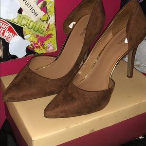 Merona Brown Heels (Size 11)